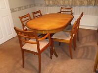 Dinind table,6 chairs and Console table