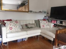IKEA two seat sofa and chaise longue (new!)