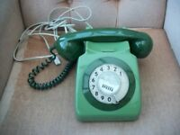 OLD BT/GPO GREEN HOUSE DIAL HOME TELEPHONE