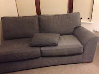 Next Grey Fabric 3 Seater Sofa Couch