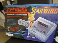 SNES CONSOLE PACKAGED WITH STARWING GAME – FACTORY SEALED – INCREDIBLY RARE