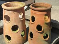 Two Terracotta Strawberry Pots