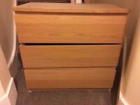 Ikea oak chest of drawers - £15