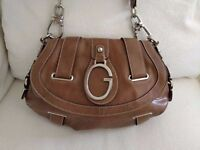 GUESS | Premium Vintage Brown Leather Handbag - AS NEW CONDITION