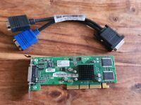JOBLOT 35+ ATI RADEON 7000 32 MB AGP Dual Display Graphics Card - DVI-E Cable . Joblot.. 25 plus