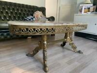 Beautiful marble top antique coffee table