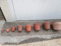 original Terracotta plant pots.