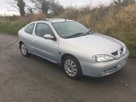 Renault Megane coupe, long MOT, immaculate car