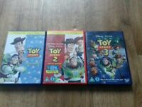 Toy story....3 movies. 1 2 and 3.