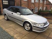 Saab 9-3 se turbo convertible v reg (1999) 1 owner 53k fsh #bargain#
