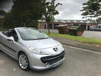 2008 Peugeot 207cc 1.6 12 months mot/3 months parts and labour warranty