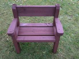 Toddlers wooden bench