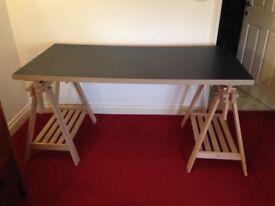 Ikea adjustable artist/writing desk with swivel adjustable chair