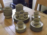 Denby SAVOY - 50 pieces of retro dinnerware from the 1980s