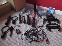 Black Nintendo Bundle Wii console with lot games and accessories