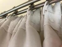 Stylish cream Curtains 220x110cm