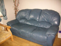Leather 3 and a 2 seater sofa