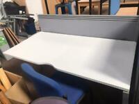 1600mm x 800mm Straight White Desk