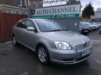 Toyota Avensis 1.8 VVT-i Colour Collection 5dr£3,685 p/x welcome 1 YEAR FREE WARRANTY. NEW MOT