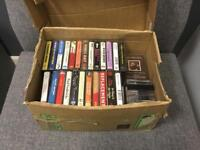 Rare. Intake retro bundle box of over 60 music cassette tapes 60s 70s 80s NOT VINYL RECORD SDHC