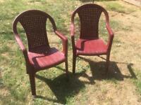 Seven Garden chairs