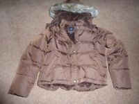 Gap Girls Brown Puffa Coat Aged 6-7