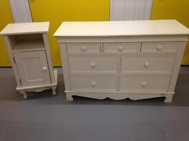 ASPACE BELVOIR White Chest of drawers & Bedside cabinet Sideboard Dresser Furniture - Laura Ashley