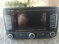 Seat leon mk6 golf tiquan sat nav dab touchscreen stereo