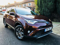 TOYOTA RAV4 2.5 HYBRID 2017 BUSINESS EDITION PLUS SATNAV RADAR FULLY LOADED NOT PRIUS MERCEDES VW