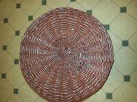 3 footed basket seated stool wonderful workmanship.