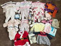 baby girl bundle, clothes, bottles, books, creams ect... almost £200 pounds worth, for 0-6 months