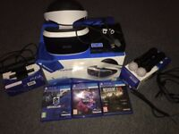 PSVR + Camera + 2 Motion Controllers + 3 Games