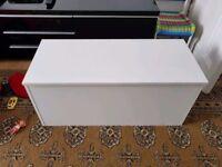 Large white storage box