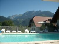 Stunning studio apartment in French Alps for sale, close to Lake Annecy with two swimming pools