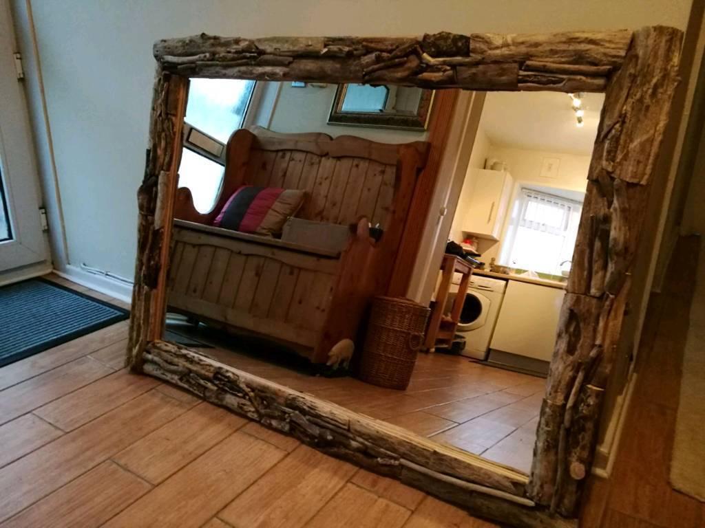 A Beautiful Large Driftwood Mirror