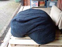 Large black bean cordruoy bag