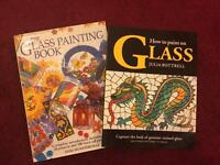 2 Beautiful How to Paint on Glass Books