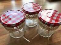 Bon Maman 370g jam jars approx 20 of for Arts / Crafts / Wedding / Baking / Candle