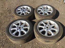"For sale - BMW 3 series 17"" alloy wheels - good tyres"