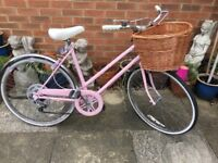 Beautiful old vintage bike and basket! Used for wedding decoration ! Raleigh Bike !