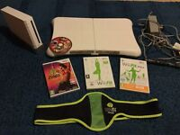 Nintendo Wii with Wii fit board, Wii fit plus and Super Mario