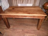 For sale Dinng Room table, solid sheesham wood style.