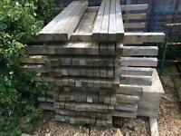 Timber Fence Posts 62 x 1.8m 75x75 & 57 1.5m 75x75