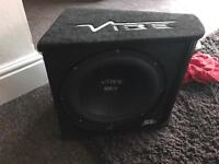 12 inch vibe subwoofer in box