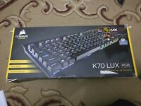 Corsair K70 LUX RGB Cherry MX Brown Mechanical Gaming Keyboard *Read Description*