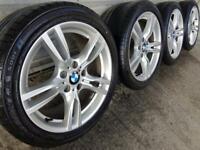 "Genuine Bmw 3 4 Series 18"" 400 M Sport Alloy Wheels & Tyres F30 31 32 E90 Z4 E46"