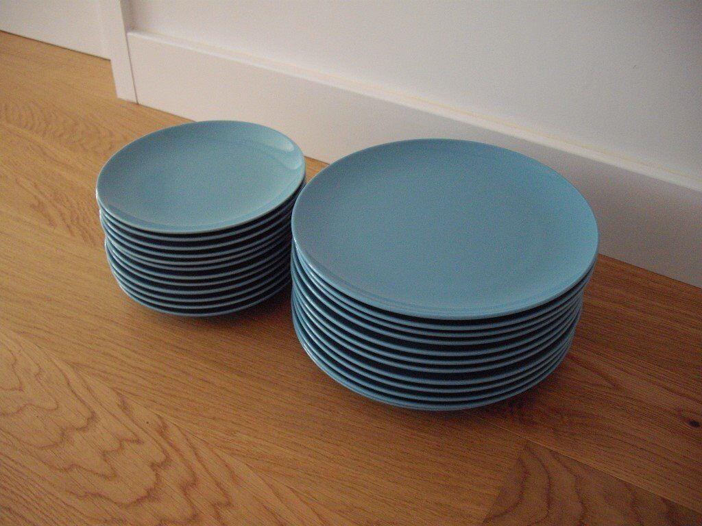 IKEA \'FARGRIK\' x12 DINNER PLATES & x12 SIDE/DESSERT PLATES | in ...