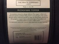 Microfibre double mattress topper by the White Company.