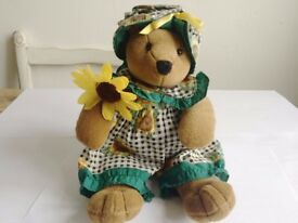 ADORABLE RUSS SUNFLOWER TEDDY COLLECTABLE £4