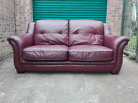 SALE! Leather sofa settee in very good condition / free delivery